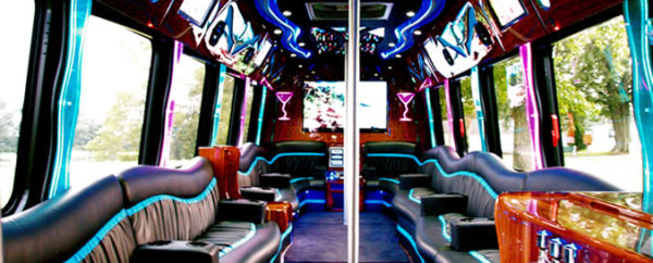 party bus interior decorations