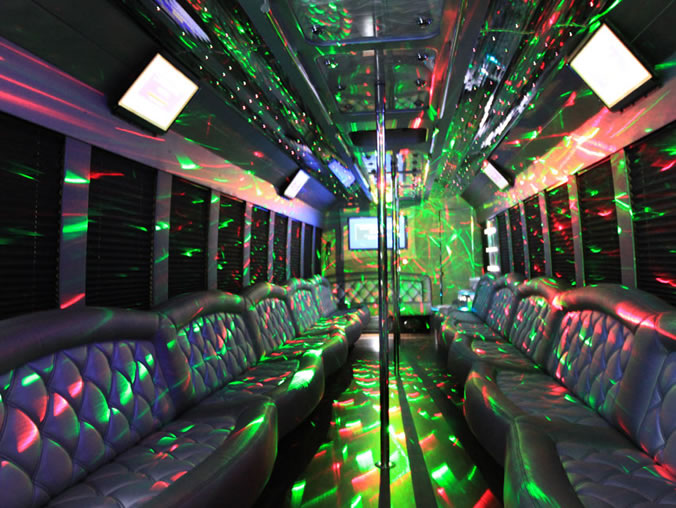 party bus for dancing bachelorettes