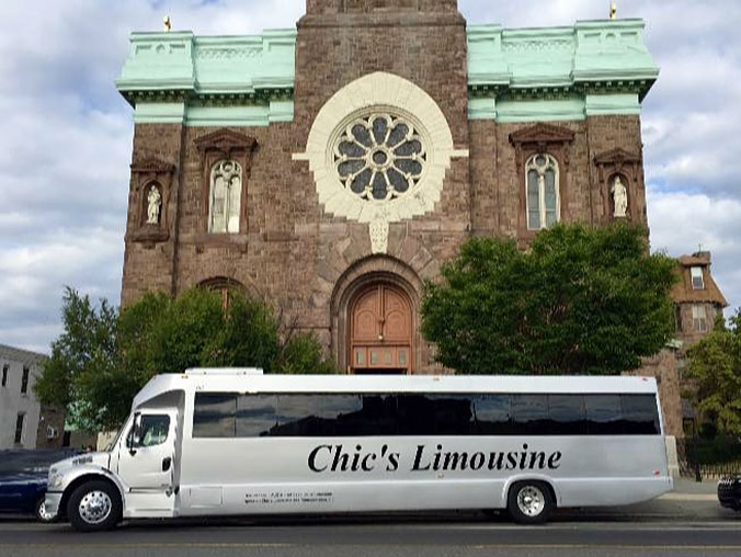 chic's limo at a church